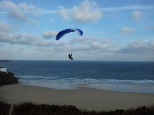 Carbis - Paul, Head coach on a toy paraglider