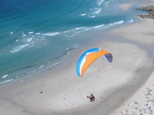 Nigel W over Sennen Beach